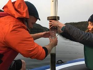 Beartooth Lake core extraction.