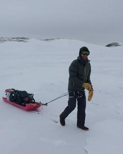 Ben pulling sampling gear.