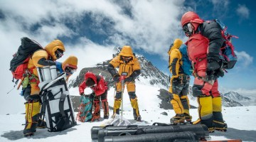 Drilling at 8,020 meters - Mt. Everest.