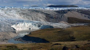 Photo of Arctic landscape in Greenland.