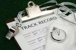 Track record on clip board
