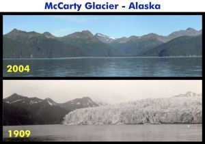 McCarty glacier in Alaska - 1909 and 2004