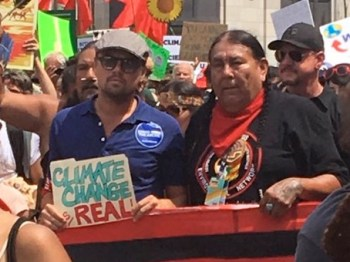 DiCaprio at climate march.