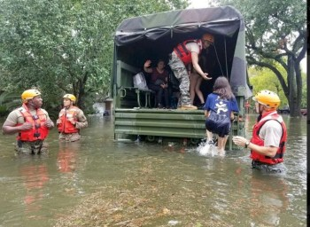 Total Army continues to assist in Harvey relief efforts. Photo: Texas National Guard