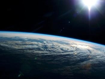 earth sun clouds