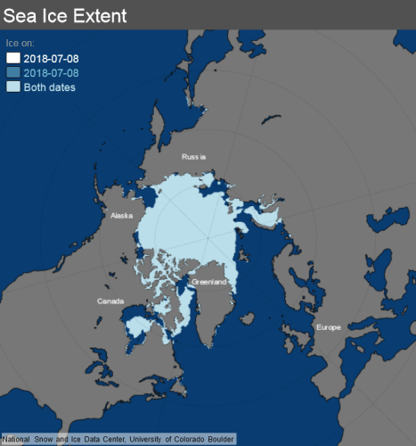 8 July 2018 sea ice map