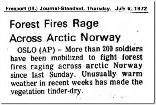 july 1972 fires arctic
