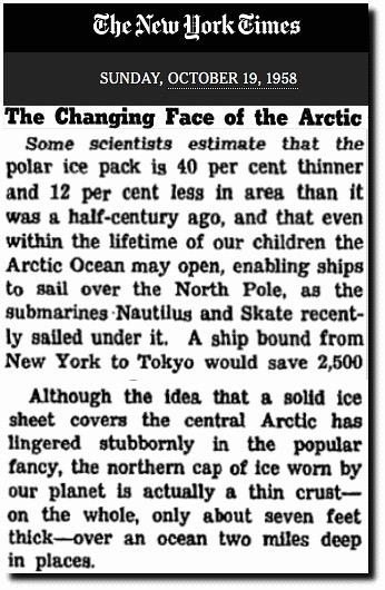 ny times 1958 arctic ice