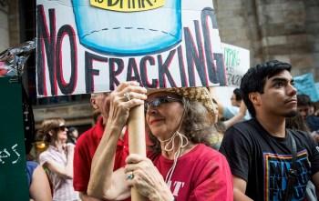 anti-fracking protest