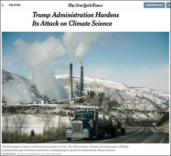 nytimes trump attacks science