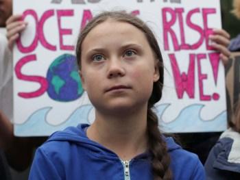 Greta Thunberg protest rally