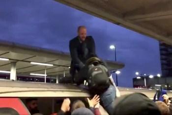 activist subway commuters london
