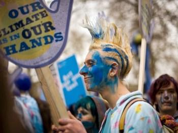 climate greenie protest