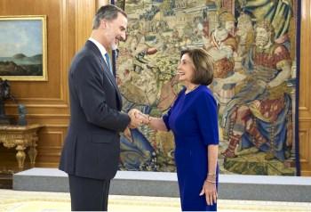 Nancy Pelosi King with King Felipe VI of Spain