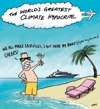 cartoon climate hypocrite