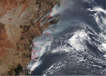 australia fires satellite