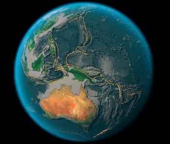 tectonic plates globe