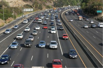 highway driving cars trucks