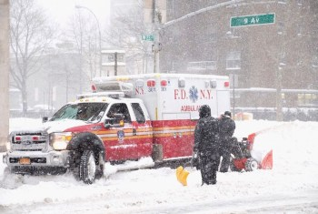 ambulance blizzard