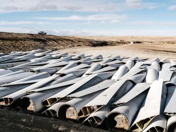 wind turbines waste