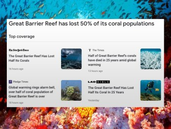 coral loss headlines