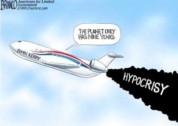 cartoon kerry climate hypocrisy