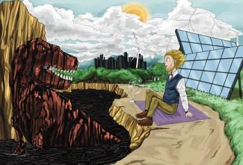 cartoon fossil fuels