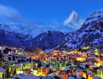 swiss alps town