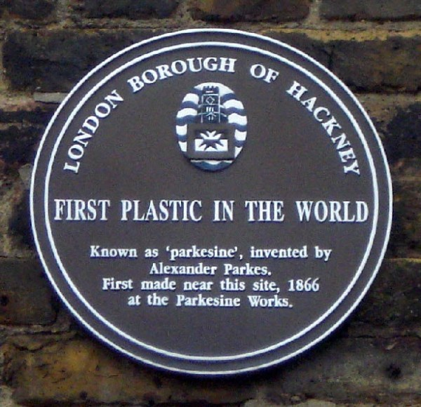 Years: plaque to Alexander Parkes, Hackney, London