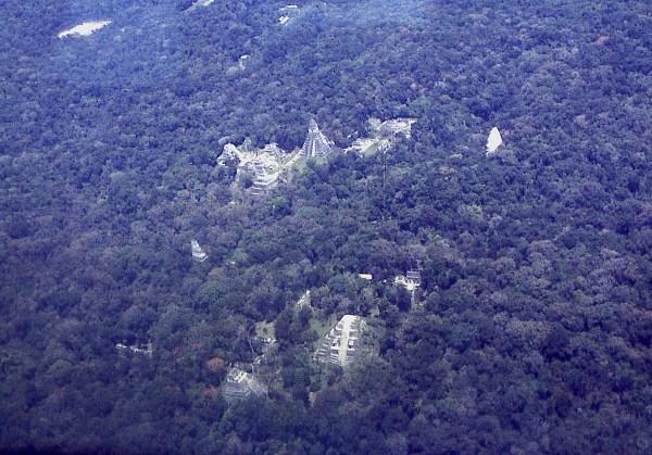 Aerial shot of Tikal, Guatemala