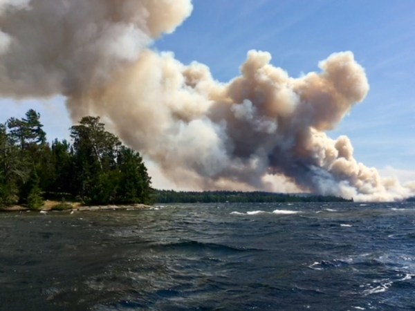 Forests burning, Ontario