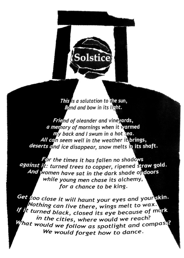 Solstice. Text: Clare Crossman © 2016; Illustration: Victor Ibanez