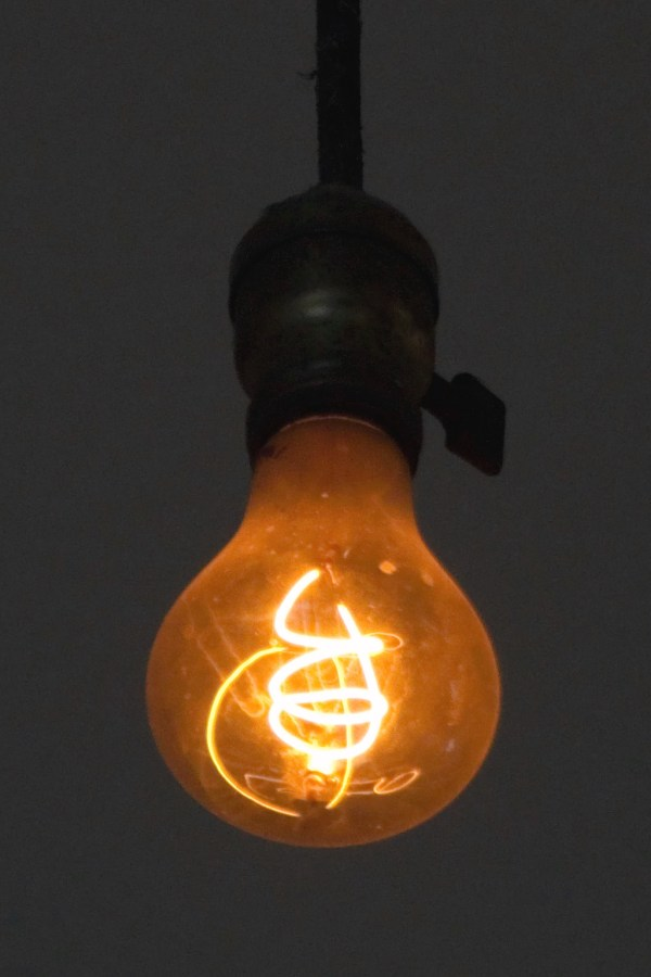 Dark - the Livermore Centennial light bulb