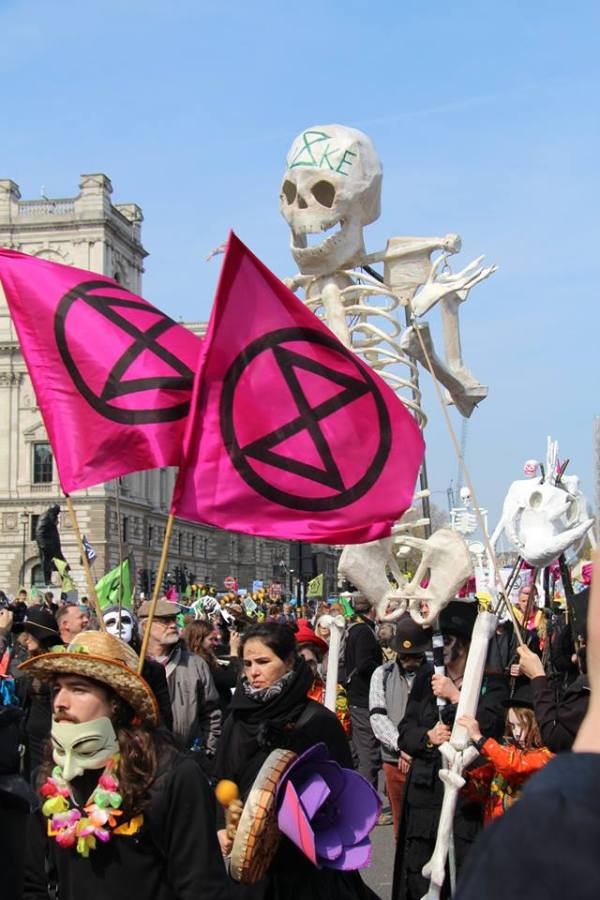 Extinction Rebellion - humans on the XR March in London May 2019