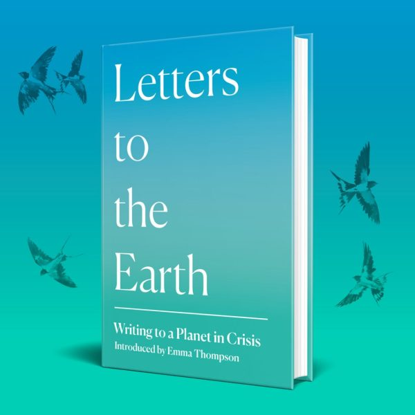 Letters to the Earth book design, showing swallow illustrations by Jackie Morris