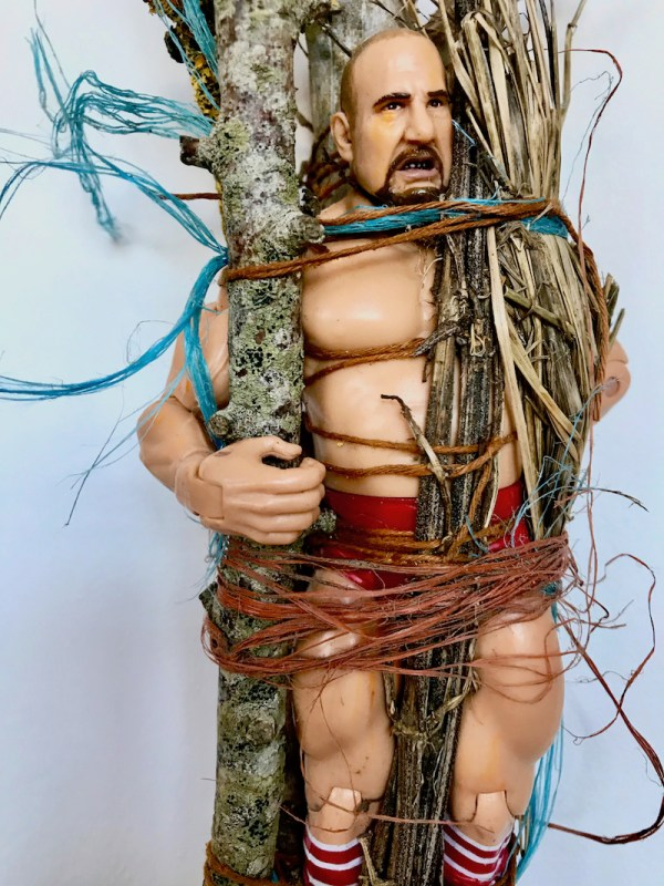 Queer Nature: showing 'Walking Bundle (Wrestler)' by artist James Aldridge