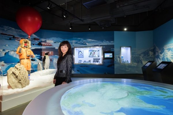Showing Cecilia Lam, Director of the world's first climate change museum