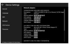Settings Network