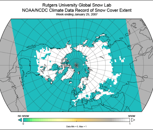 Nh Snow Cover Extent For Week Ending January 29 2007 Credit Figure Contributed By D Robinson