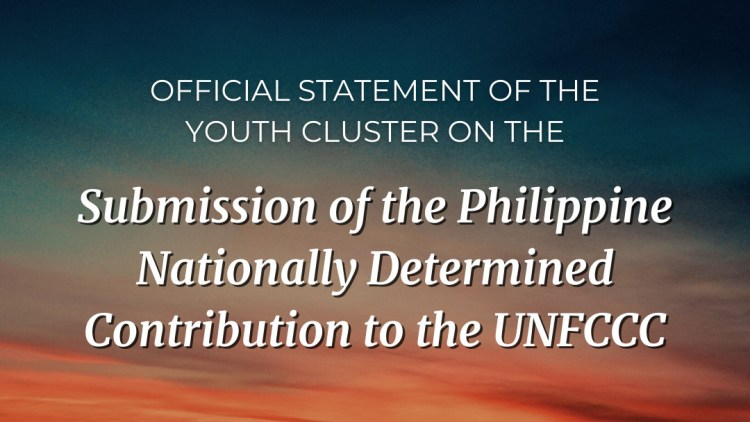 Young Pinoy Climate Reality Leaders: PH NDC submission marks the start of the country's journey toward climate resilience