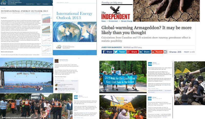 July 2013 news and social media stories - click to see in larger size