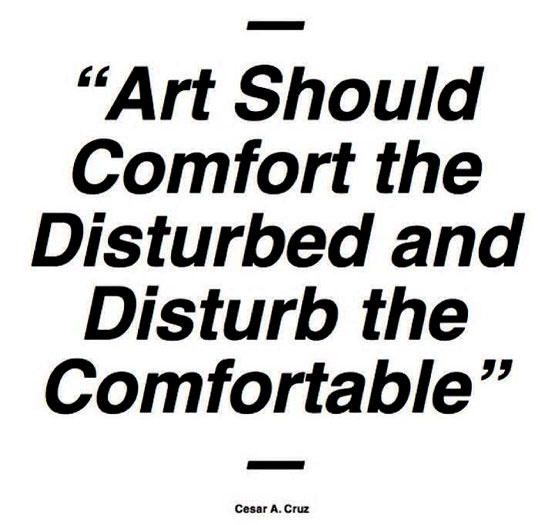 art-should-disturb