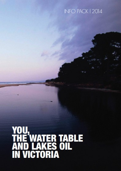 Front cover of Lakes Oil's 31-page brochure