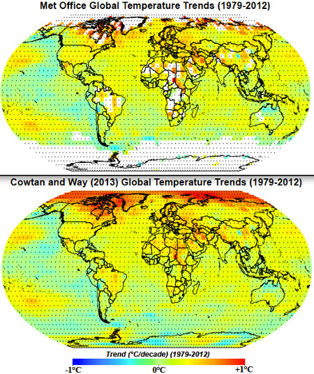 Cowtan and Way 2013 Global Warming MET Office HADCru