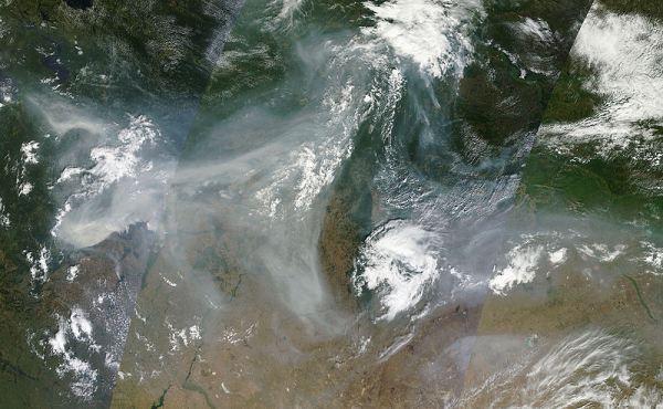 WIldfires Russia 2010, NASA satellite.