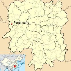 Fenghuang-map-location-Hunan-China-flooding-July-2014