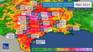 Estimated Rainfall in May 2015
