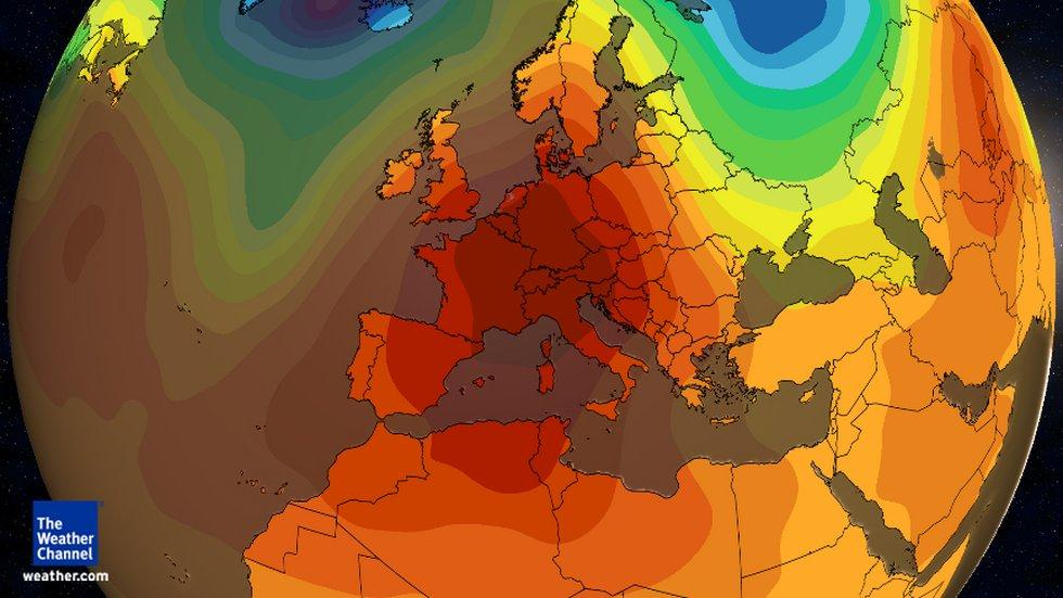 Jet Stream mild December Europe Bulge unusual anomaly warmth-europe 2015