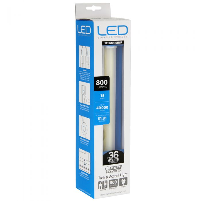 feit 15 w 12 linkable under cabinet led fixture 72060