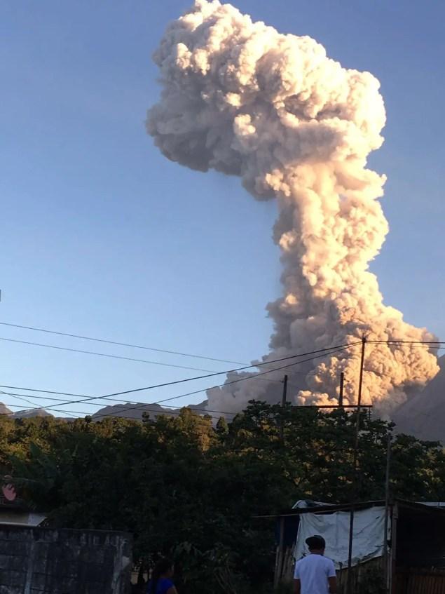 Vista desde Retalhuleu, Foto Conred REU / J Martinez